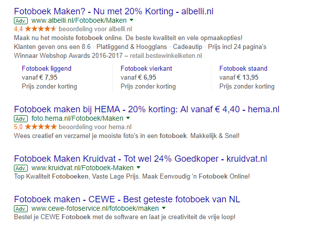 call to actions in adwords advertentieteksten