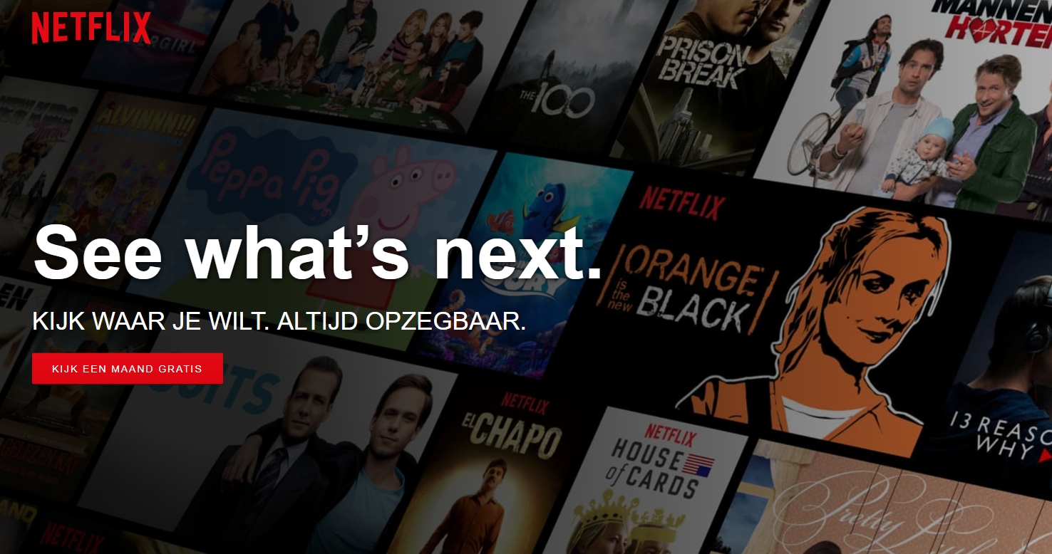 Call to action op netflix